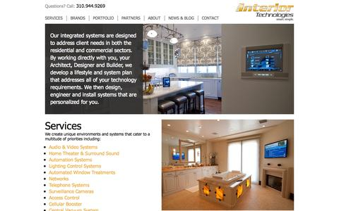 Screenshot of Services Page interior-technologies.com - Services   Interior Technologies - captured Oct. 8, 2014