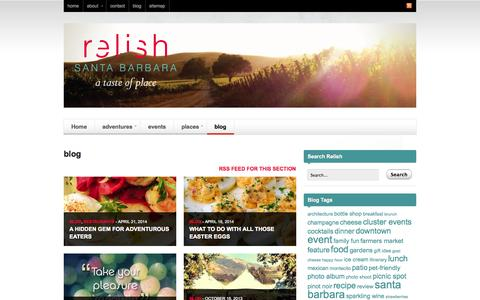 Screenshot of Blog relishsantabarbara.com - blog   Relish Santa Barbara - captured Oct. 7, 2014