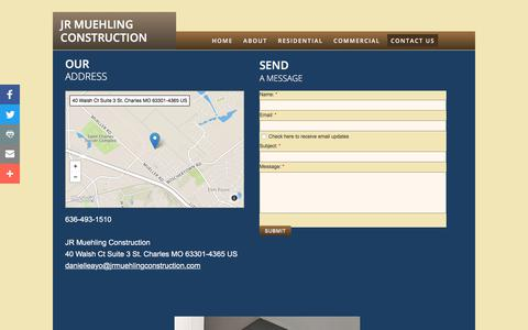 Screenshot of Privacy Page Contact Page jrmuehlingconstruction.com - Contact Us - captured Sept. 20, 2018