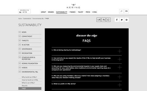 FAQS | Kering