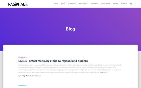 Screenshot of Blog pasiphae.eu - Blog – Pasiphae Laboratory - captured Sept. 24, 2018