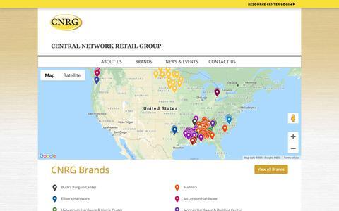 Screenshot of Locations Page cnrgstores.com - CNRG Stores - Locations - captured Sept. 27, 2018