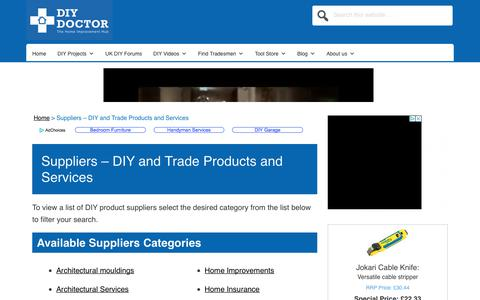 Screenshot of Products Page diydoctor.org.uk - DIY Products Including Tools and Services UK | DIY Doctor - captured Aug. 5, 2018