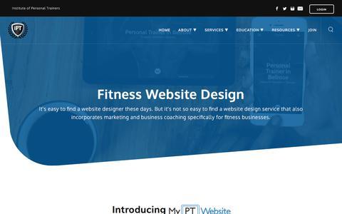 Screenshot of Services Page instituteofpersonaltrainers.com - Fitness Website Design - captured Sept. 20, 2018