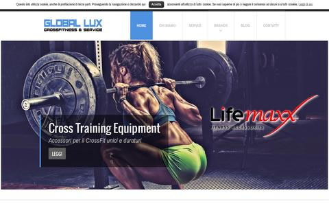 Screenshot of Home Page globallux.it - Global Lux | Cross Fitness & Service Innovation - captured Sept. 19, 2015