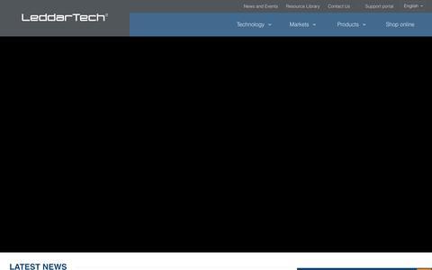Screenshot of Home Page leddartech.com - Leddar Cost-Effective Lidar Sensor Technology | LeddarTech - captured July 2, 2016