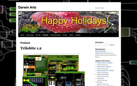 Screenshot of Products Page darwinarts.com - Products | Darwin Arts - captured Jan. 7, 2016