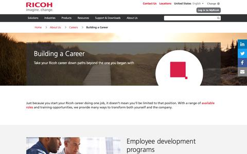 Screenshot of Jobs Page ricoh-usa.com - Ricoh Career Paths and Opportunities | About Ricoh USA - captured Jan. 3, 2019