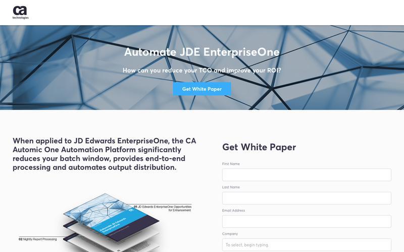 Automate JDE EnterpriseOne - CA Technologies