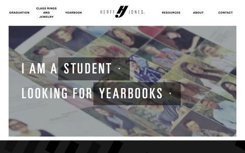 Screenshot of Home Page herffjones.com - Class Rings, Yearbooks, Graduation Products & More - Herff Jones - captured Jan. 21, 2019
