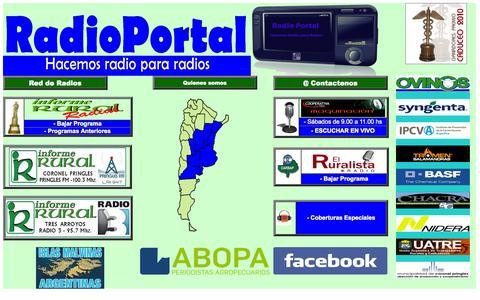 Screenshot of Home Page radioportal.com.ar - Radio Portal - Hacemos Radio para Radios - captured Oct. 6, 2014