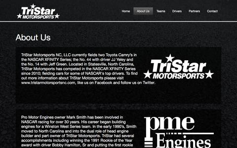 Screenshot of About Page tristarmotorsportsnc.com - About Us - captured Dec. 17, 2016