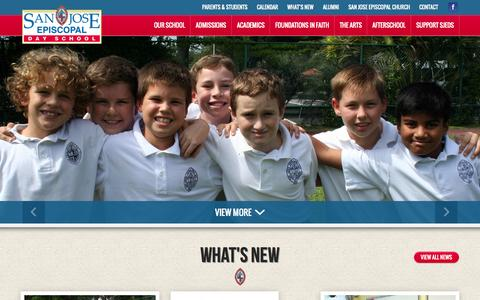 Screenshot of About Page sjeds.org - Private Christian Elementary School in Jacksonville Fl - captured Oct. 23, 2014