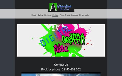 Screenshot of Contact Page photoboothstudio.co.uk - Contact Photo Booth Studio - captured July 3, 2015