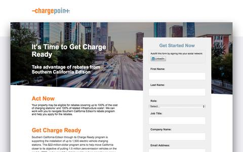 Screenshot of Landing Page chargepoint.com - ChargePoint - captured Aug. 18, 2016