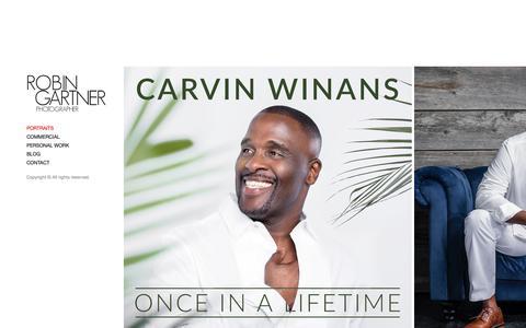 Screenshot of Home Page robingartner.com - Commercial, Portrait and Celebrity Photographer.  - ROBIN GARTNER - captured Oct. 18, 2018