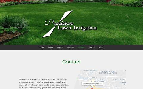 Screenshot of Contact Page precisionlawnirrigation.net - Precision Lawn Irrigation | Contact - captured Sept. 29, 2018