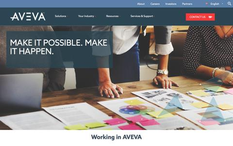 Screenshot of Jobs Page aveva.com - Working for Aveva, leading engineering software provider - captured April 10, 2017
