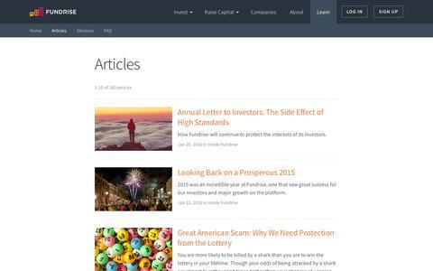 Screenshot of Blog fundrise.com - The Fundrise Blog   Fundrise - captured Feb. 3, 2016