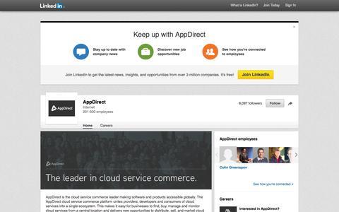 Screenshot of LinkedIn Page linkedin.com - AppDirect | LinkedIn - captured Nov. 13, 2015