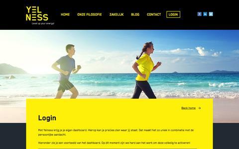 Screenshot of Login Page yelness.nl - Login | Yelness - captured Oct. 7, 2014