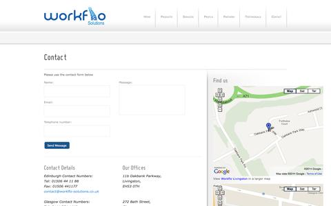 Screenshot of Contact Page workflo-solutions.co.uk - Contact Workflo Solutions   Photocopy Company Edinburgh, Glasgow - Workflo Solutions - captured Oct. 7, 2014
