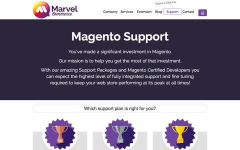 Screenshot of Support Page marvelcommerce.com - Magento eCommerce Development Company in Sri Lanka - captured Feb. 12, 2016