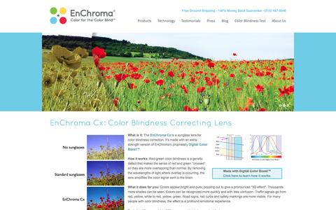 Screenshot of Home Page enchroma.com - EnChroma | Color For The Color Blind - captured Sept. 16, 2014