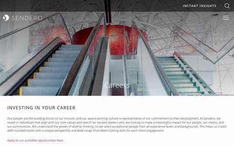 Screenshot of Jobs Page senderoconsulting.com - Consulting Careers & Consulting Jobs | Sendero Consulting - captured Aug. 19, 2018