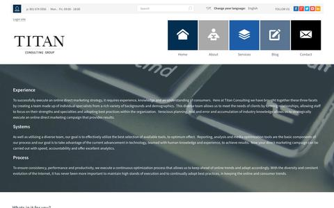 Screenshot of Services Page titancg.co - Affiliate Program Management | Internet Marketing Agencies | Titan Consulting Group - captured Oct. 27, 2014