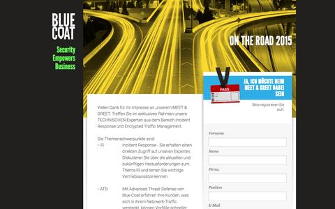 Screenshot of Landing Page bluecoat.com - Blue Coat - captured March 10, 2016