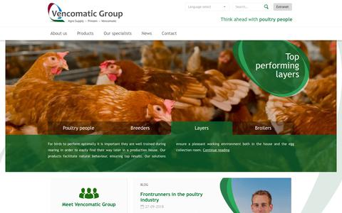 Screenshot of Products Page vencomaticgroup.com - Vencomatic Group - captured Oct. 18, 2018