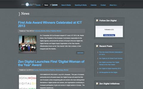 Screenshot of Press Page zendigital.be - News   Zen Digital Europe - captured Oct. 27, 2014