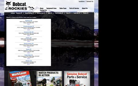 Screenshot of Locations Page bobcatoftherockies.com - Colorado Wyoming Bobcat Dealer | Construction Equipment Rentals, Wheel Loaders Compact Excavators, Skid Steers New Used Service Near Denver CO - captured July 29, 2016
