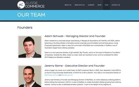 Screenshot of Team Page aussiecommerce.com.au - Aussie Commerce - captured Oct. 31, 2014