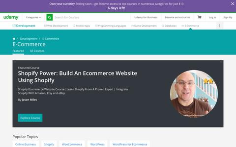 Online Courses on Building and Managing E-Commerce Sites