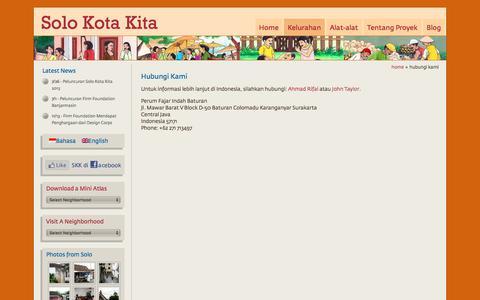 Screenshot of Contact Page solokotakita.org - Hubungi Kami   Solo Kota Kita - captured Feb. 18, 2018