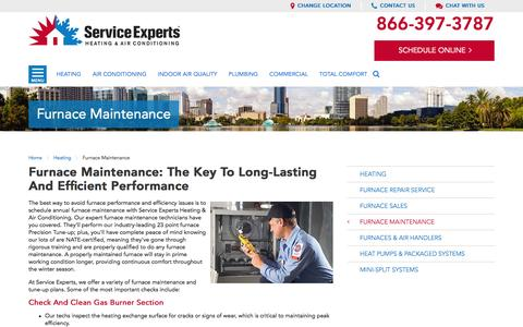 Furnace Maintenance in your city | Service Experts
