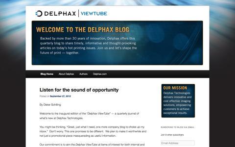 Screenshot of Blog delphax.com - Delphax Blog | Delphax Blog - captured Oct. 5, 2014
