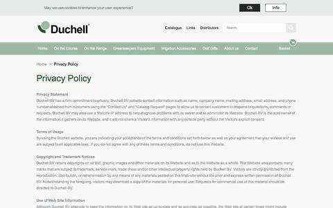 Screenshot of Privacy Page duchell.com - Privacy Policy |  Duchell - captured Oct. 13, 2017