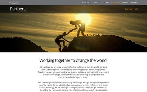 Screenshot of Signup Page legendpower.com - Partners - Legend Power Systems Inc. - captured Nov. 4, 2018