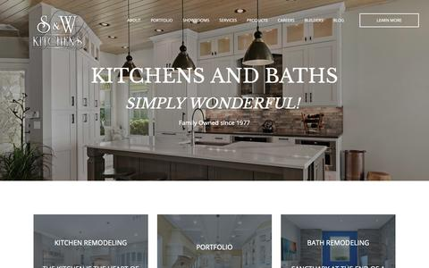 Screenshot of Home Page sandwkitchens.com - S&W Kitchens - Kitchen & Bath Remodeling in Orlando, Brevard and Tampa - captured Sept. 30, 2018