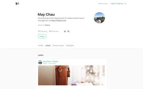 Latest stories written by May Chau – Medium