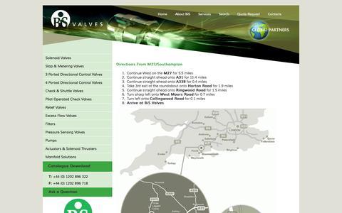 Screenshot of Maps & Directions Page bisvalves.co.uk - Directions to BIS Valves | BiS Valves - captured Nov. 3, 2014