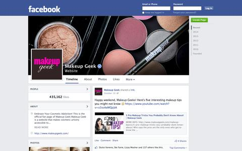 Screenshot of Facebook Page facebook.com - Makeup Geek   Facebook - captured Oct. 27, 2014
