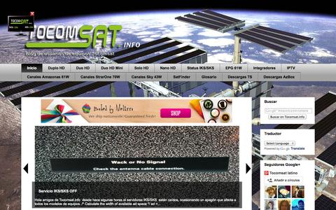 Screenshot of Home Page tocomsat.info - Todo lo que buscas para tu receptor satelital. - captured Oct. 8, 2014