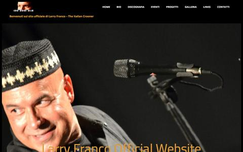 Screenshot of Home Page larryfranco.eu - Larry Franco – The Italian Crooner - captured Sept. 25, 2018