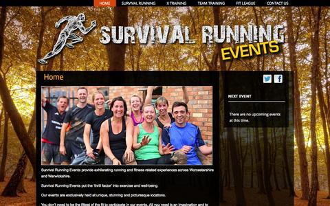 Screenshot of Home Page survival-running.co.uk - Survival Running - captured Sept. 1, 2015
