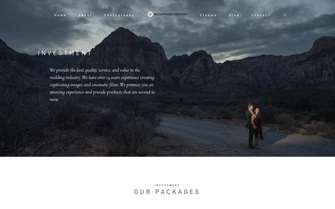 Screenshot of Pricing Page weddingdocumentary.com - Pricing | Wedding Documentary Photo + Cinema | Indian Wedding Photographer - captured Sept. 20, 2018