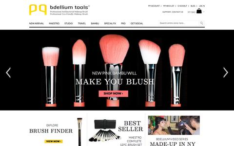Screenshot of Home Page Blog About Page Privacy Page Contact Page FAQ Page Login Page Terms Page bdelliumtools.com - Bdellium Tools | Professional makeup brushes - captured Sept. 30, 2014
